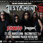 HORARIOS TESTAMENT, EXODUS Y DEATH ANGEL